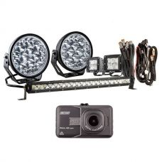"Adventure Kings Domin8r Xtreme 7"" Ultimate LED Light Pack + Dash Camera"