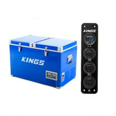 Adventure Kings 70L Camping Fridge + 12V Accessory Panel