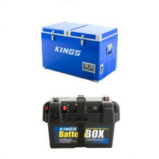 Adventure Kings 70L Camping Fridge + Battery Box