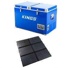 Adventure Kings 70L Camping Fridge/Freezer + 200W Portable Solar Blanket