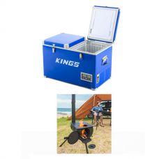 Adventure Kings 70L Camping Fridge/Freezer + Camp Oven/Stove