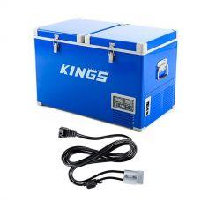 Adventure Kings 70L Camping Fridge/Freezer + Kings 1.8m 12v Fridge Cable