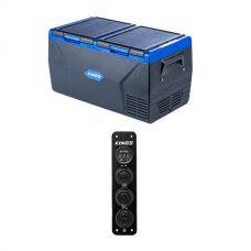 Kings 75L Dual Zone Fridge / Freezer  + 12V Accessory Panel
