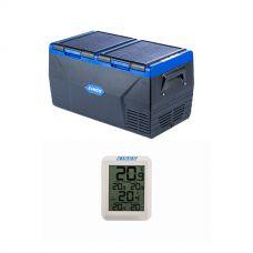 Kings 75L Dual Zone Fridge / Freezer + Wireless Fridge Thermometer