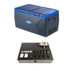 Kings 75L Dual Zone Fridge / Freezer + 12V Control Box