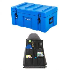 Adventure Kings 78L Tough Tool Box + Adventure Kings Car Seat Organiser