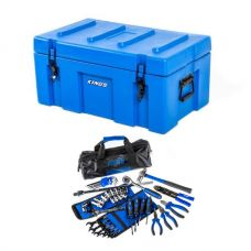Adventure Kings 78L Tough Tool Box + Essential Bush Mechanic Toolkit