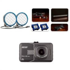 """Ultimate 7"""" Domin8rX Driving Light Pack fitted with OSRAM LEDs + Adventure Kings Dash Camera"""