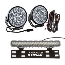 "Adventure Kings Domin8r Xtreme 7"" Essential LED Light Pack + 15"" Numberplate LED Light Bar"