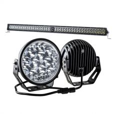 "Kings 7"" LED Driving Lights (Pair) + 30"" Laser Light Bar"