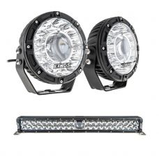 "Kings 7"" Laser Driving Lights (Pair) + 24"" Laser Light Bar"