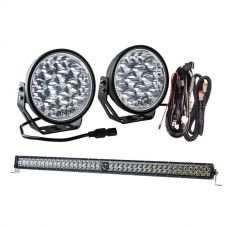 "Kings Domin8r Xtreme 7"" Essential LED Light Pack + 40"" Laser Light Bar"