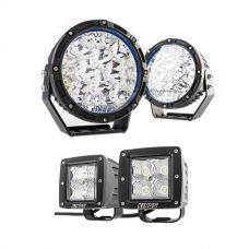 "Kings Lethal 7"" Premium LED Driving Lights (Pair) + 3"" Work Lights (Pair)"