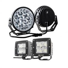 "Kings 7"" LED Driving Lights (Pair) + 3"" LED Work Light - Pair"