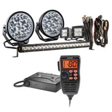 "Adventure Kings Domin8r Xtreme 7"" Ultimate LED Light Pack + Oricom UHF380PK In-Car 5W CB Radio"