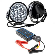 "Kings Jump Starter + 7"" LED Driving Lights (Pair)"