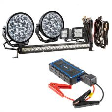 "Adventure Kings Domin8r Xtreme 7"" Ultimate LED Light Pack + 1000A Lithium Jump Starter"