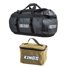 Kings 80L Extra-Large PVC Duffle Bag + Toiletry Canvas Bag