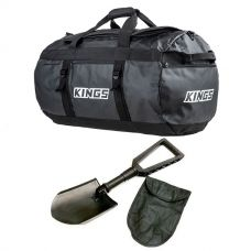 Kings 80L Extra-Large PVC Duffle Bag + Recovery Folding Shovel