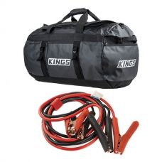 Kings 80L Extra-Large PVC Duffle Bag + Heavy-Duty Jumper Leads