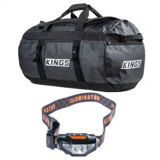 Kings 80L Extra-Large PVC Duffle Bag + LED Head Torch