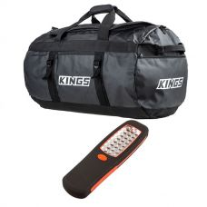 Kings 80L Extra-Large PVC Duffle Bag + LED Work Light