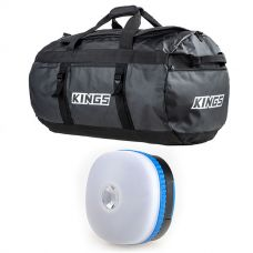 Kings 80L Extra-Large PVC Duffle Bag + Mini Lantern