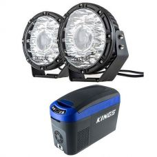 "Kings 8.5"" Laser MKII Driving Lights (pair) + 15L Centre Console Fridge/Freezer"