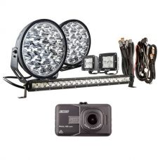 "Adventure Kings Domin8r Xtreme 9"" Ultimate LED Light Pack + Dash Camera"
