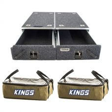 Titan Drawer System - 900mm + 2 x Adventure Kings Clear Top Canvas Bag