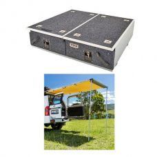 Titan Drawer System - 900mm + Adventure Kings Rear Awning - 1.4 x 2m