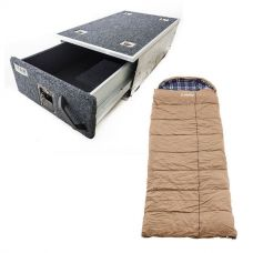 Titan Single Drawer 900mm + Premium Sleeping bag -5°C to 5°C Degrees Celsius Right Zipper