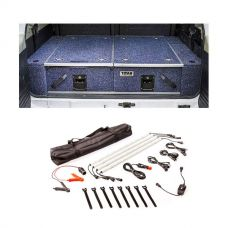 900mm Titan Rear Drawers suitable for smaller wagons + Illuminator 4 Bar Camp Light Kit