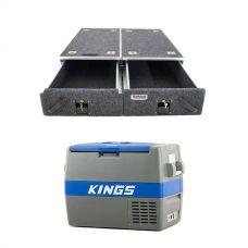 Titan Drawer System - 900mm + 60L Camping Fridge/Freezer