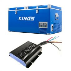 Kings 90L Camping Fridge Freezer + Adventure Kings 25AMP DC-DC Charger (with MPPT SOLAR)