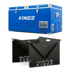 Kings 90L Camping Fridge Freezer + Kings Portable Steel Fire Pit