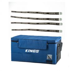 Kings 90L Fridge Cover + Fridge Tie Down Straps (4 pack)