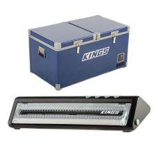Kings 90L Camping Fridge Freezer + Vacuum Sealer
