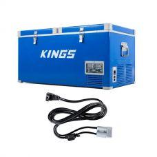Kings 90L Camping Fridge Freezer + Kings 1.8m 12v Fridge Cable