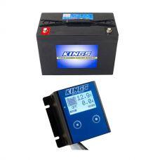 Adventure Kings AGM Deep Cycle Battery 98AH + 12V Battery Monitor