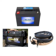 Adventure Kings AGM Deep Cycle Battery 98AH + Maxi Battery Box + LED Strip Light