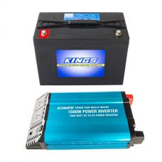 Adventure Kings AGM Deep Cycle Battery 98AH + Adventure Kings 1500W Inverter