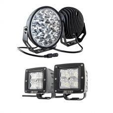 """Kings 9"""" LED Driving Lights (Pair) + 3"""" LED Work Light - Pair"""