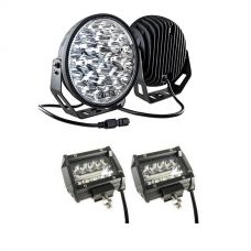 "Kings 9"" LED Driving Lights (Pair) + 4"" LED Light Bar"