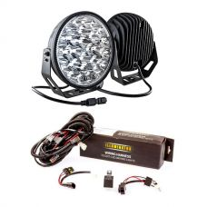 """Kings 9"""" LED Driving Lights (Pair) + LED Driving Light Wiring Harness"""