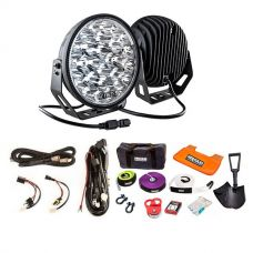 """Kings 9"""" LED Driving Lights (Pair) + Complete Recovery Kit + Smart Harness"""