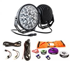 "Kings 9"" LED Driving Lights (Pair) + Essential Nylon Recovery Kit + Smart Harness"