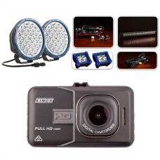 """Ultimate 9"""" Domin8rX Driving Light Pack fitted with OSRAM LEDs + Adventure Kings Dash Camera"""