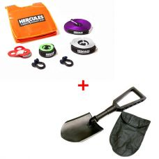 Hercules Essential Nylon Recovery Kit + Hercules Recovery Folding Shovel