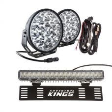 "Adventure Kings Domin8r Xtreme 9"" Essential Light Pack + 15"" Numberplate LED Light Bar"
